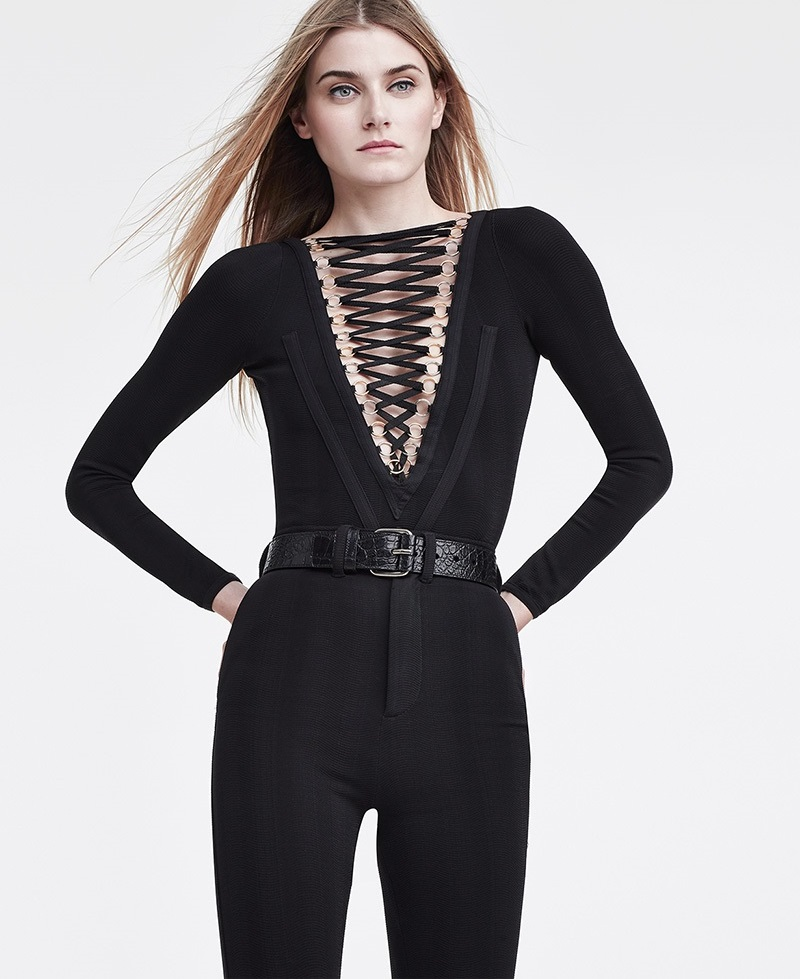 Givenchy Laced Jersey Bodysuit