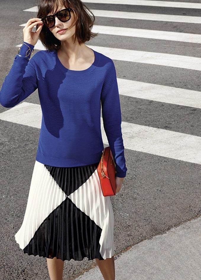 Halogen Side Zip Ottoman Knit Sweater