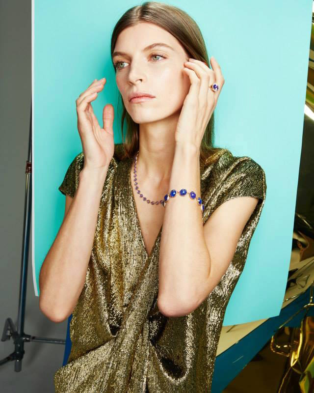 Irene Neuwirth Tanzanite & Rose Gold Bracelet