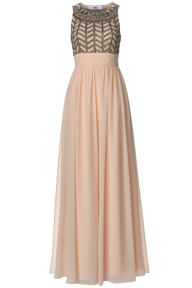 JS Collections Embellished Chiffon Gown