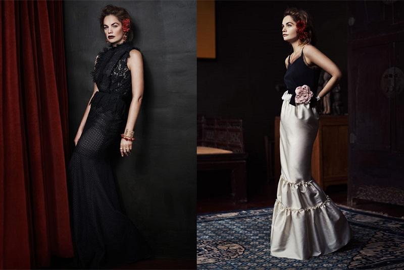 LANVIN Embellished duchesse-satin maxi skirt