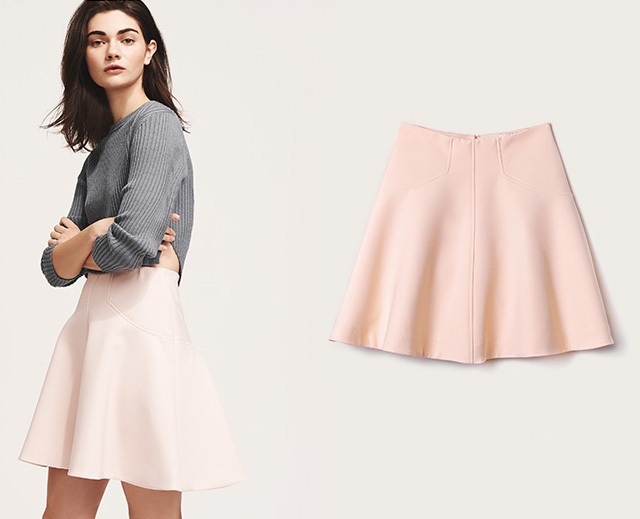 Lela Rose Seamed Skirt