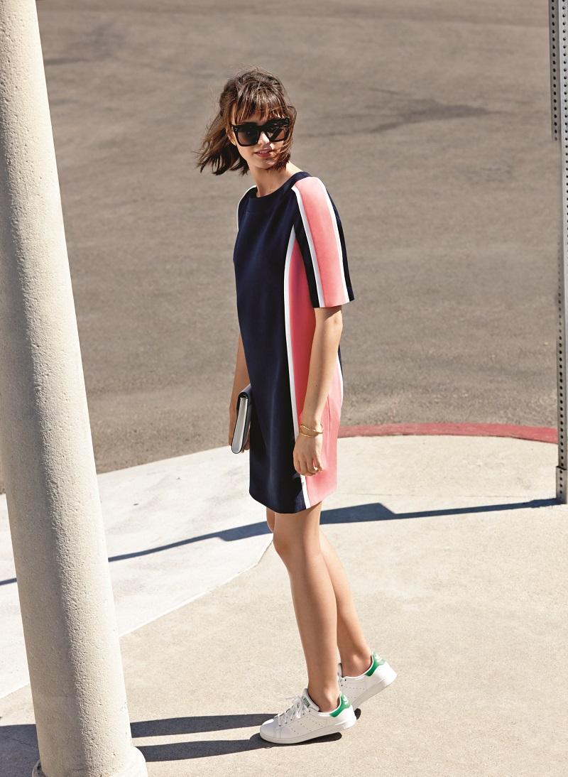 Maggy London Colorblock Crepe Shift Dress