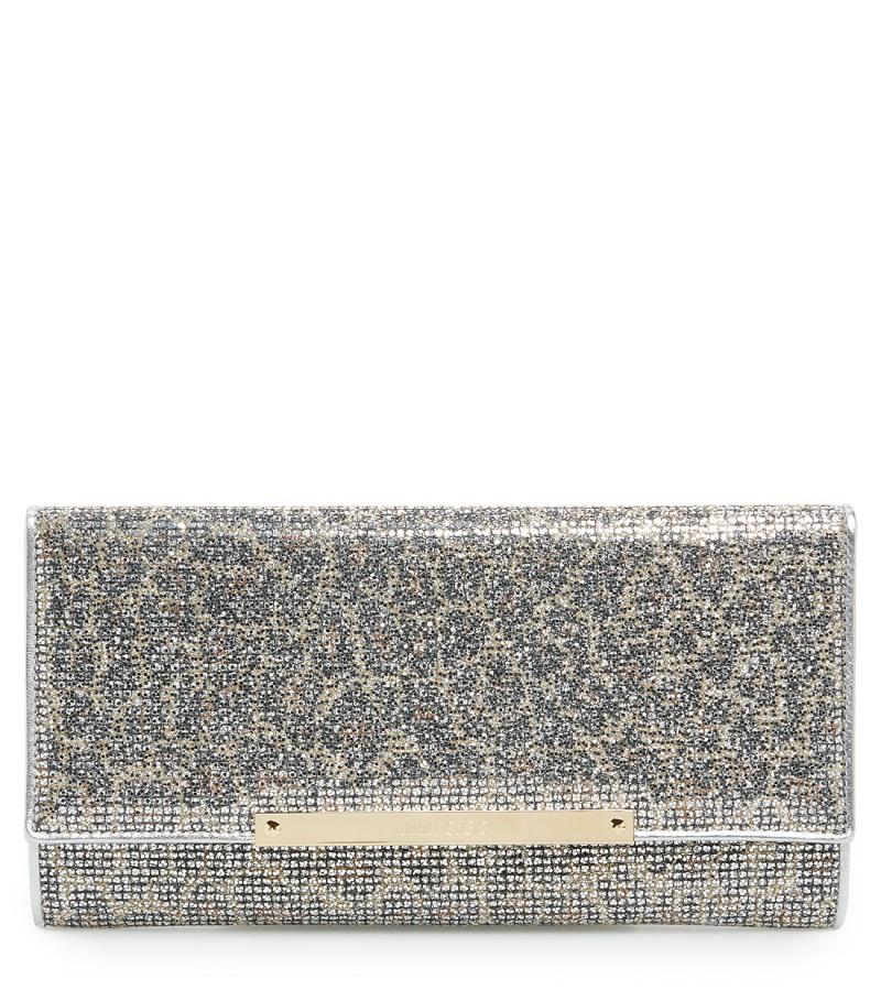 'Marilyn' Leopard Print Glitter Clutch