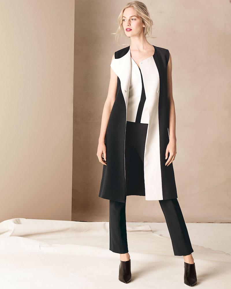 Narciso Rodriguez Bicolor Full-Length Vest