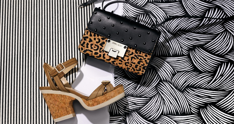 Rebel Studded Leopard-Print Cork & Leather Crossbody Bag&Nemesis Buckle Leather Platform Sandals