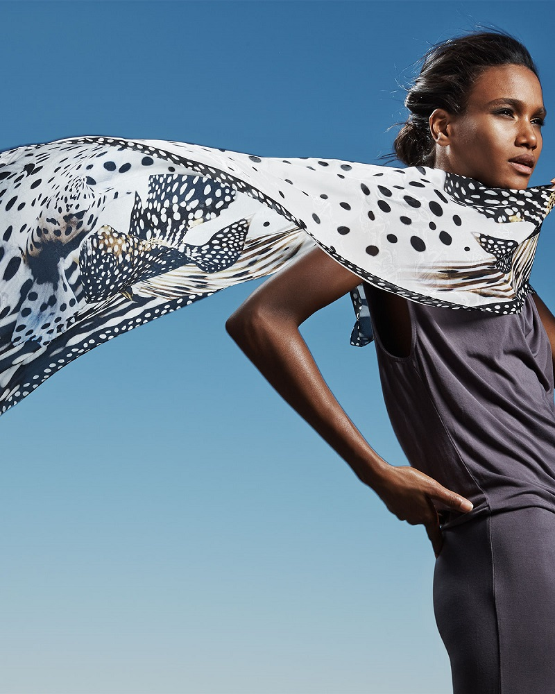 Roberto Cavalli Spotted Fish Print Stole