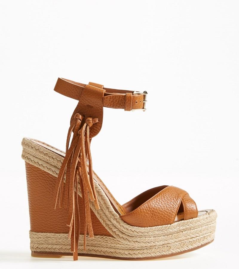 'Rockee' Fringe Wedge Sandal (Women)
