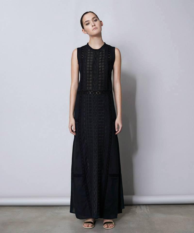 Sea Ny Embellished Long Dress