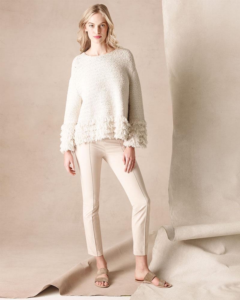 THE ROW Laina Fringed Tiered-Hem Sweater