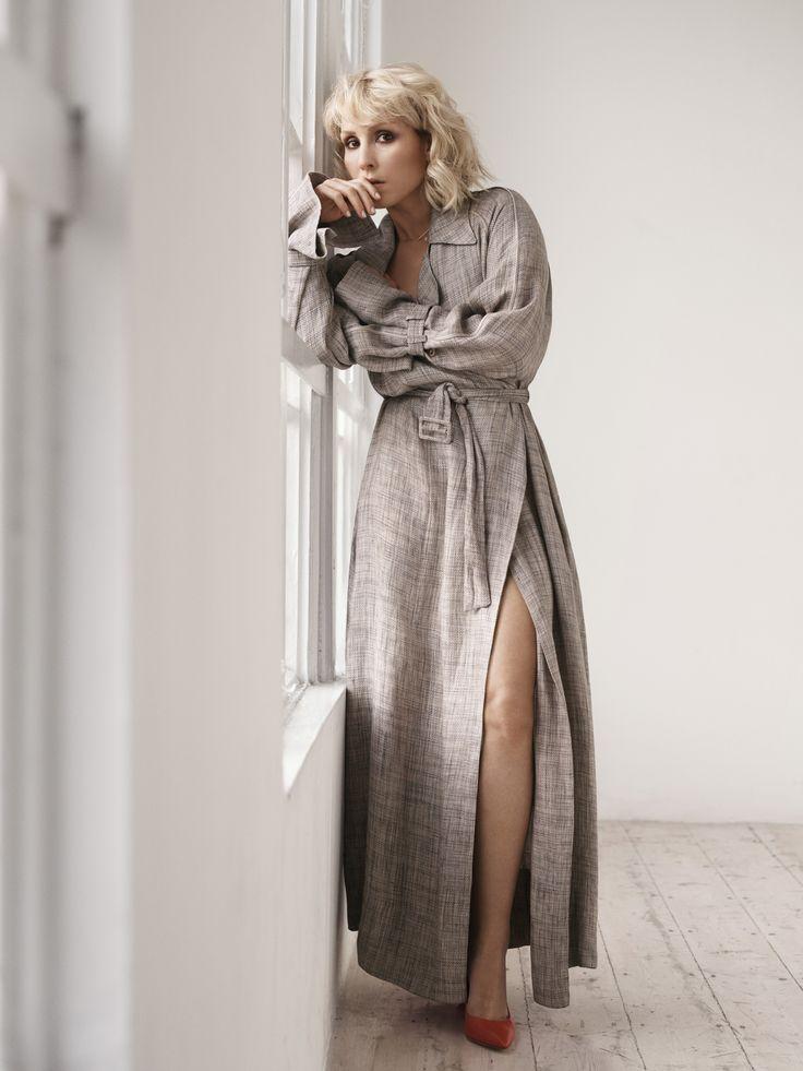 THE ROW Lana linen trench coat