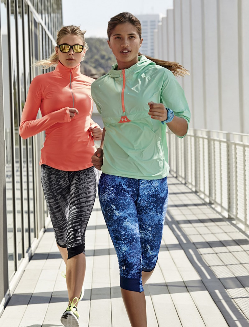 Under Armour 'Fly By' Print Compression Capris
