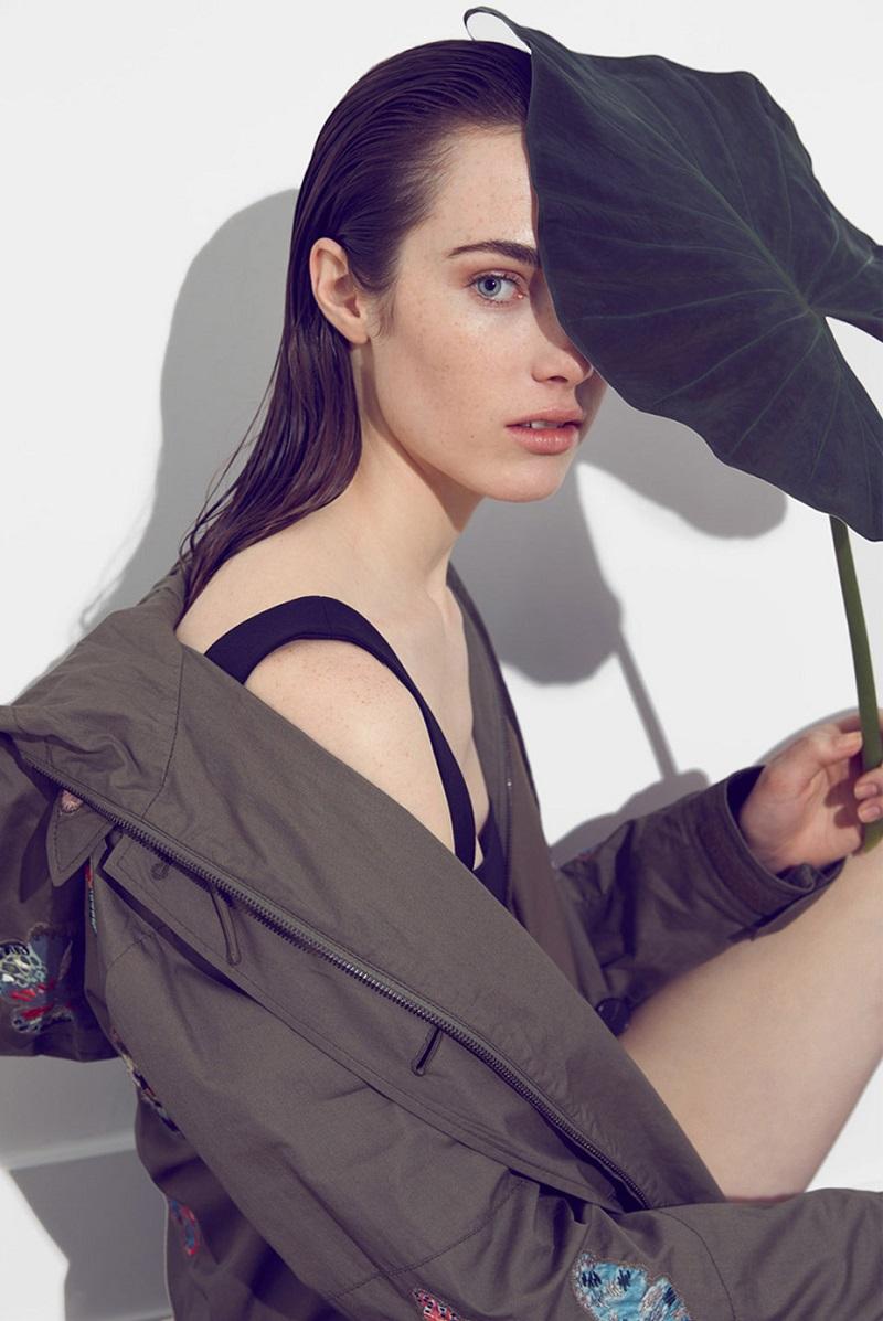 Valentino Black Wool & Silk Geometric Balconette Bra