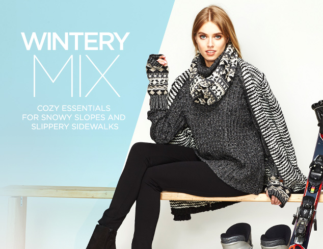 Wintery Mix: Après Ski Essentials at MYHABIT