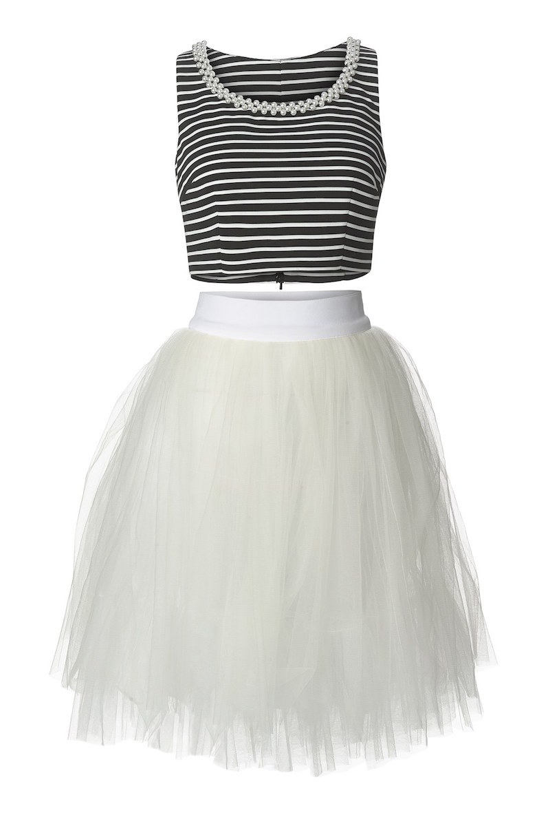a. drea Embellished Two-Piece Ballerina Dress