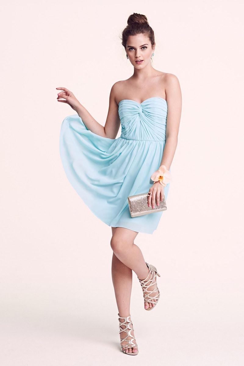 a. drea Twist Front Strapless Dress