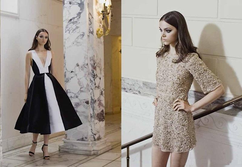 Alice + Olivia Drina Embellished Mesh Dress