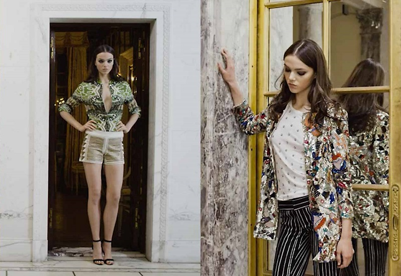 Alice + Olivia Eloise Garden-Print Silk Blouse