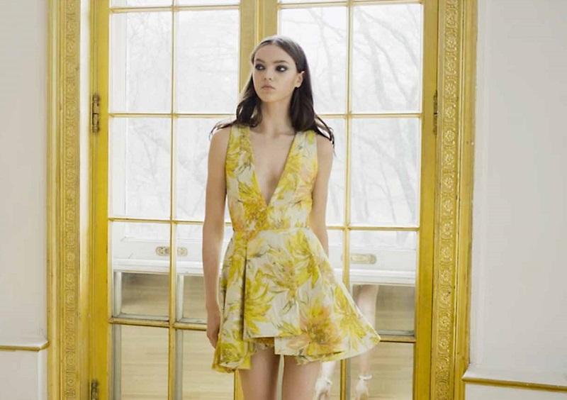 Alice + Olivia Tanner Colorblock V-Neck Loose Dress