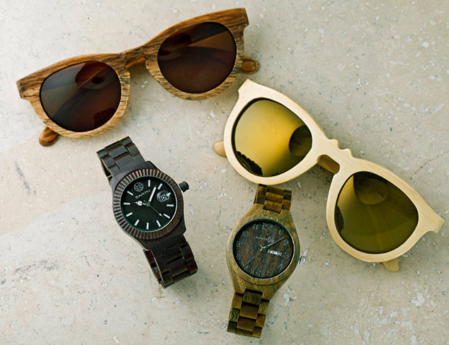 Earth Wood Sunglasses & Watches at MYHABIT