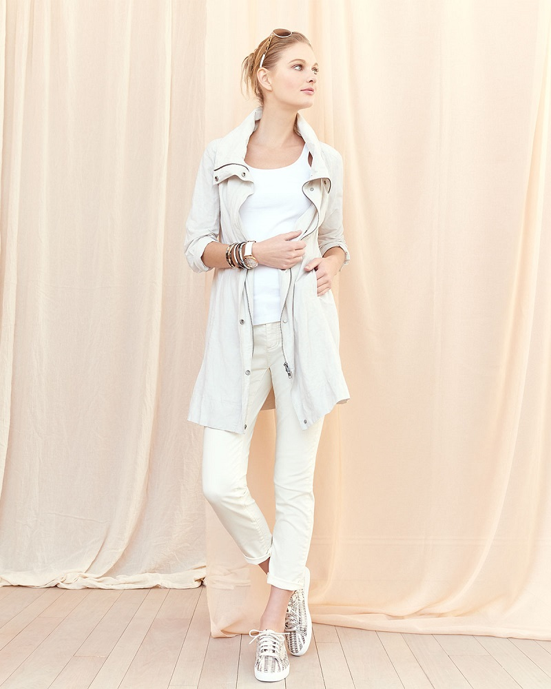 Eileen Fisher Rumpled Metallic Cotton Jacket