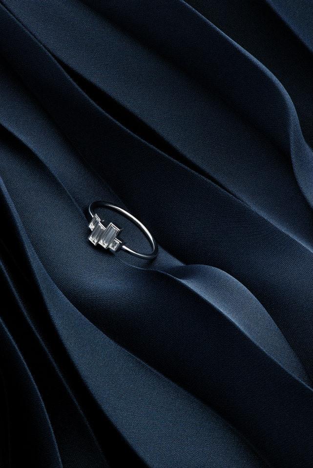 FINN Baguette Diamond & White Gold Ring