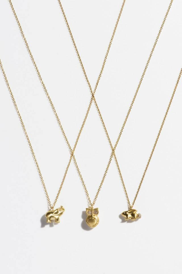 FINN Diamond & Gold Rabbit Pendant Necklace