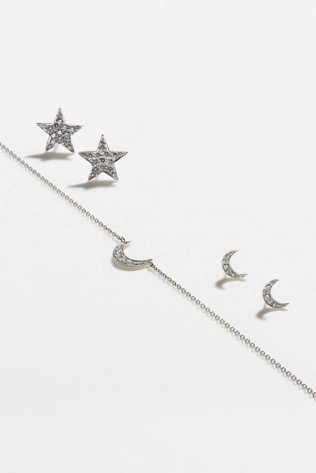 FINN Diamond Moon Necklace