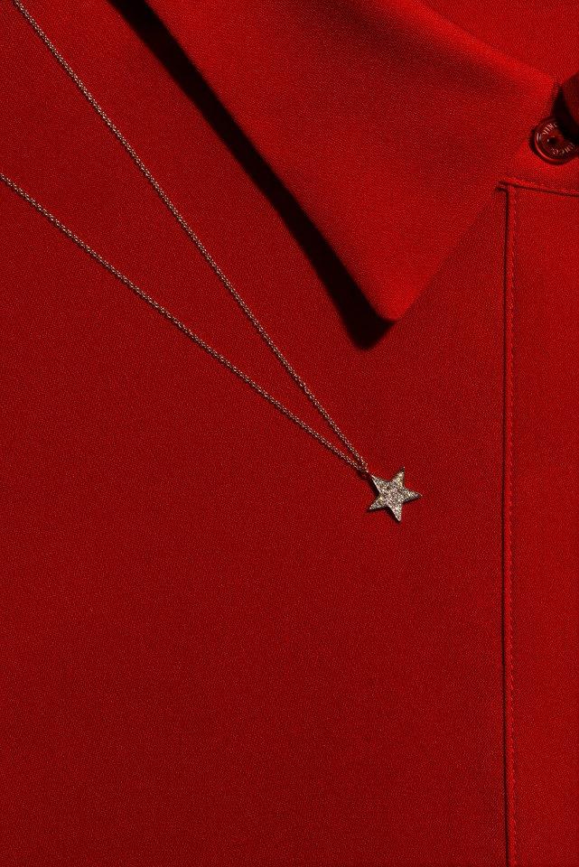 FINN Pavé Diamond Star Pendant Necklace