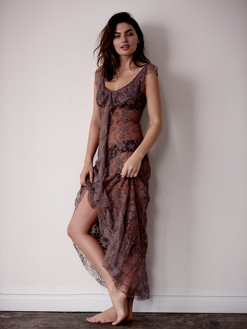 Free People Floating Flutter Maxi