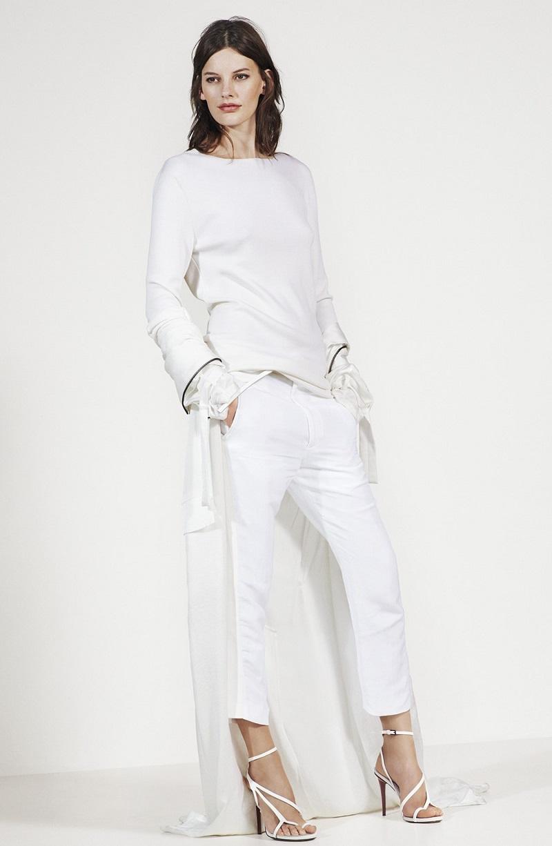 Haider Ackermann V-Back Wool Blend Knit Pullover
