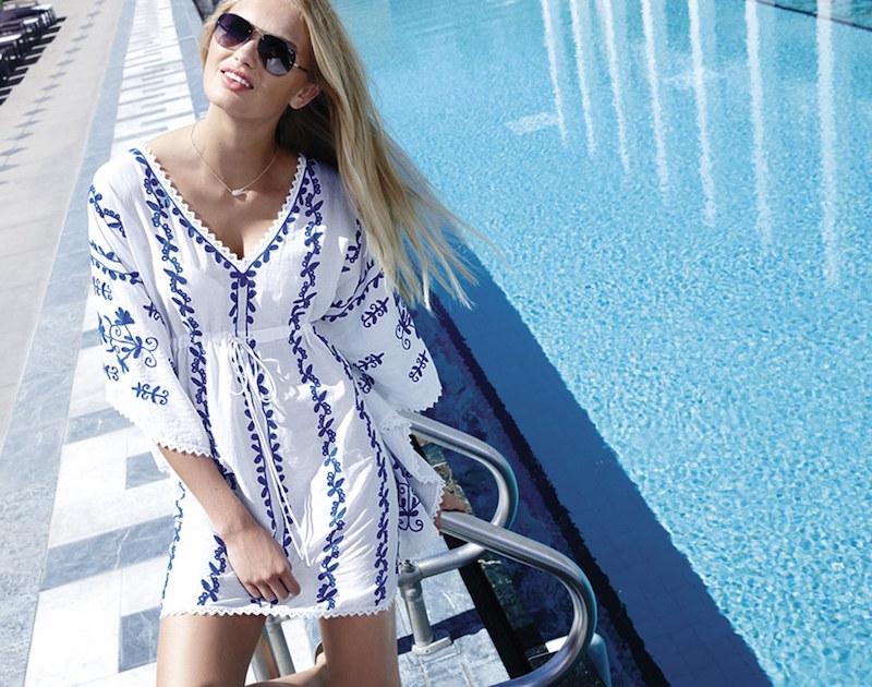 La Blanca Embroidered Cover-Up Tunic