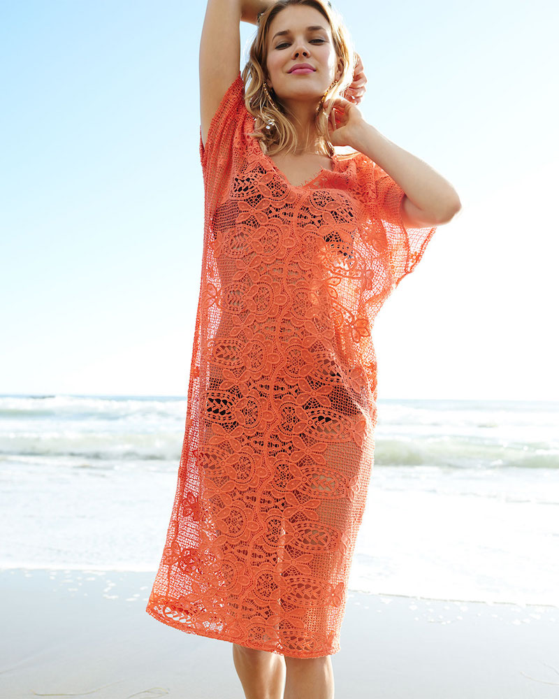 Miguelina Kate Cotton Crochet Coverup Dress