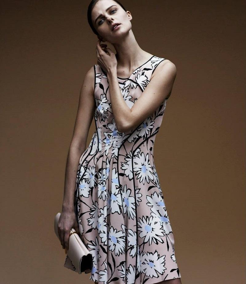 Nina Ricci Daisy-Print Flare Dress