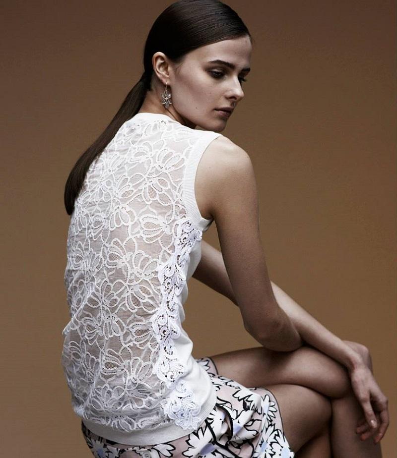 Nina Ricci Lace-Back Shell