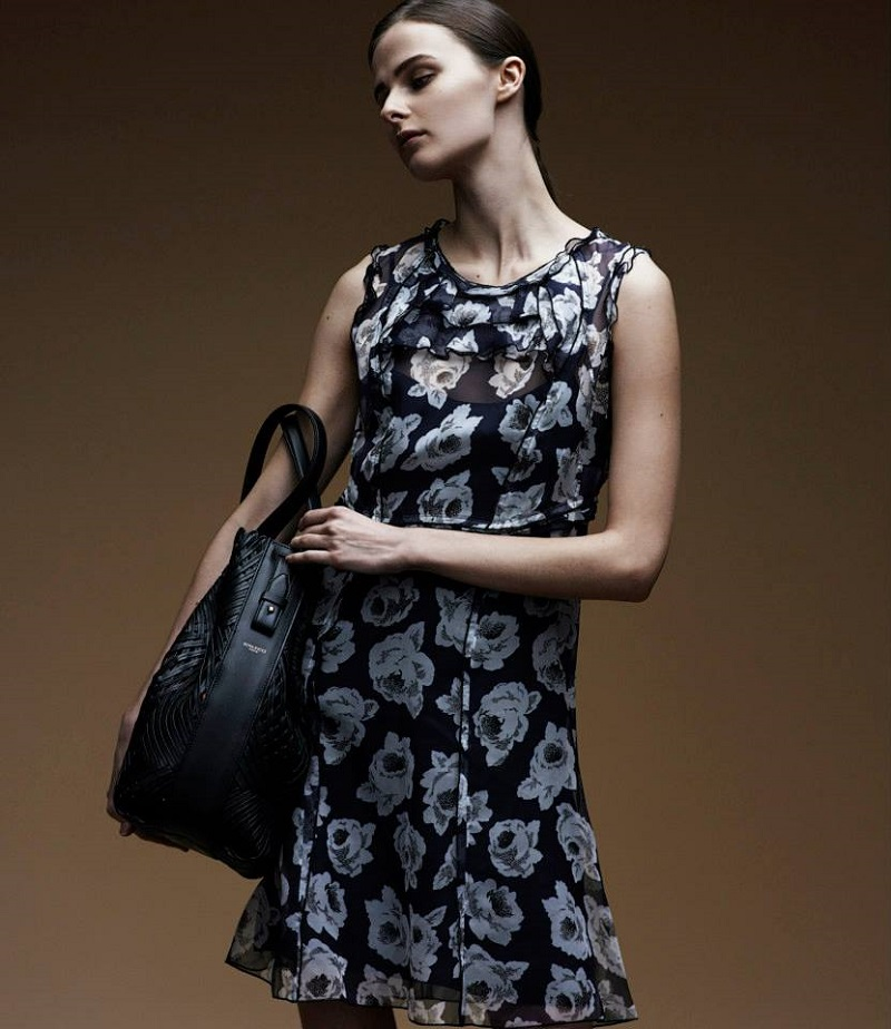 Nina Ricci Rose-Print Organza Dress
