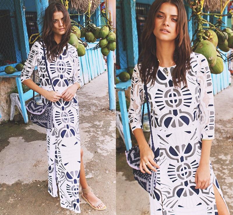 Sea Long Sleeve Long dress
