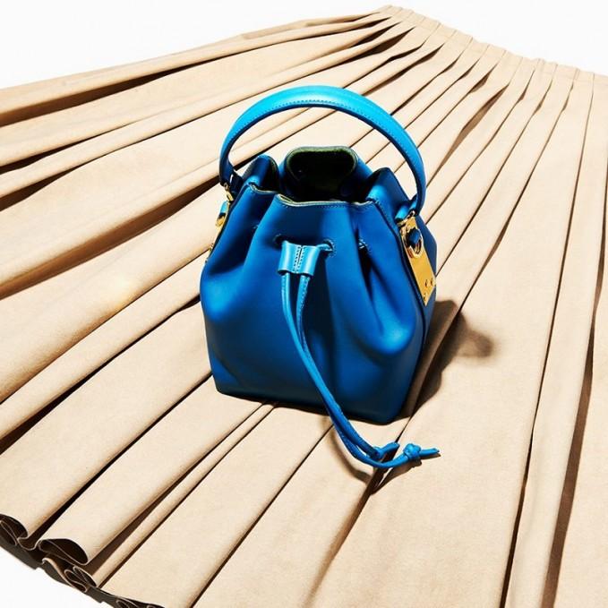 Sophie Hulme Mini Leather Bucket Bag