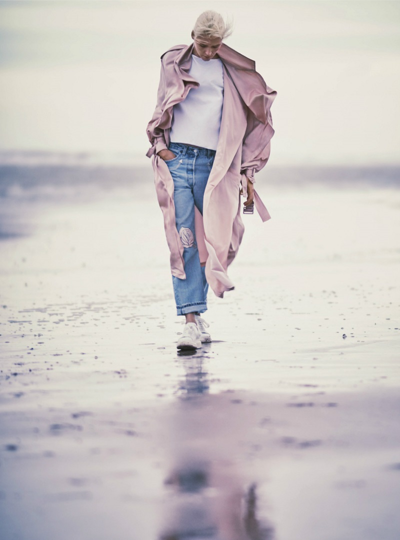 Stella McCartney Satin-crepe coat