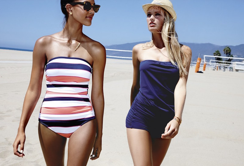 Tommy Bahama Rugby Stripe One-Piece Swimsuit