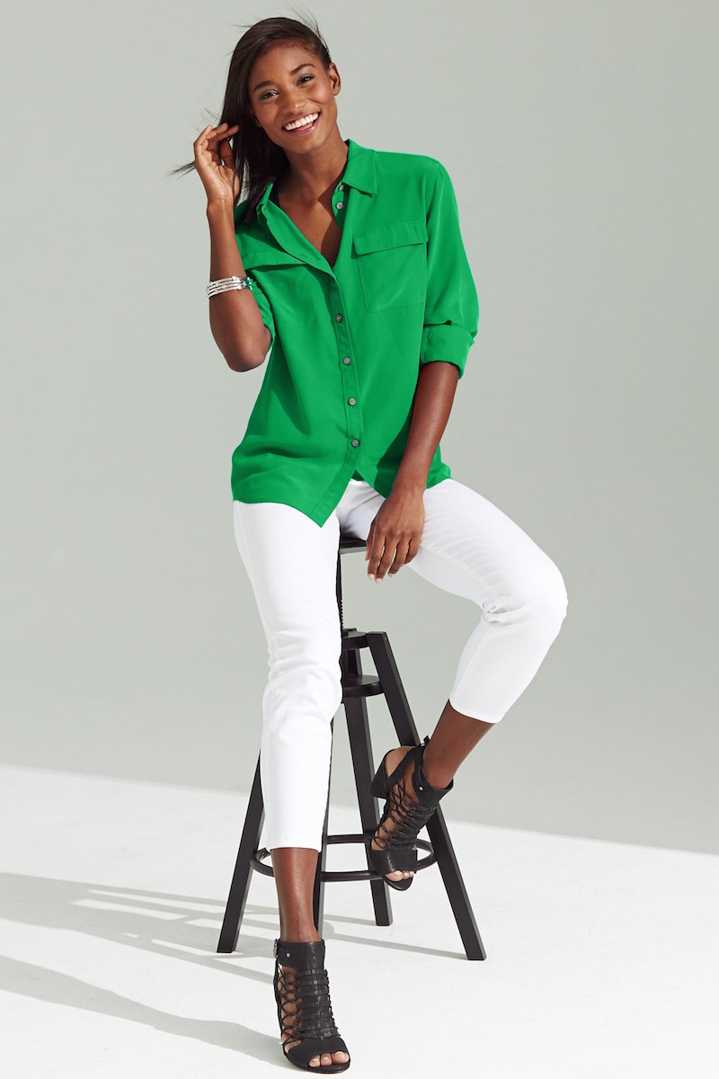 Two by Vince Camuto Utility Blouse