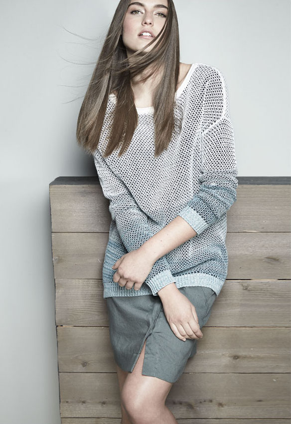 Vince Ombre Open-Stitch Knit Sweater