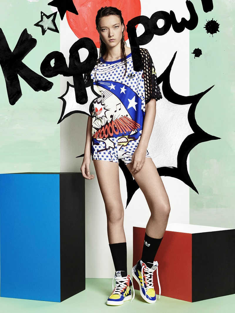 sports shoes 8321f 099f0 adidas Original x Rita Ora Pop Art Inspired Spring Collection