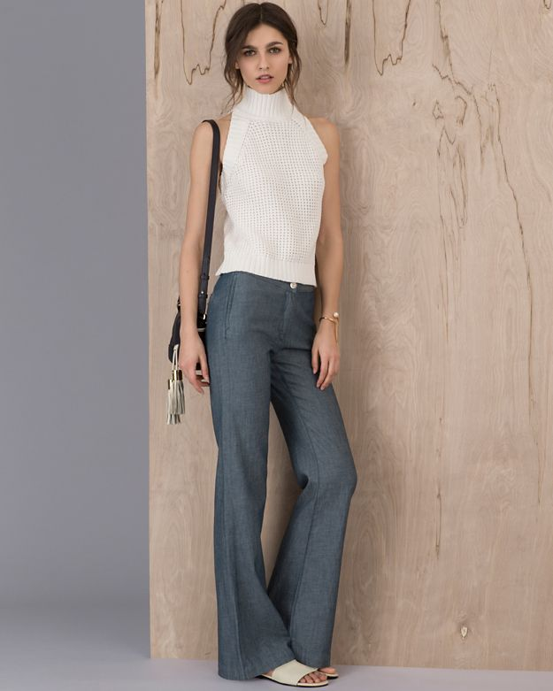 3X1 EXCLUSIVE High Rise Denim Trouser