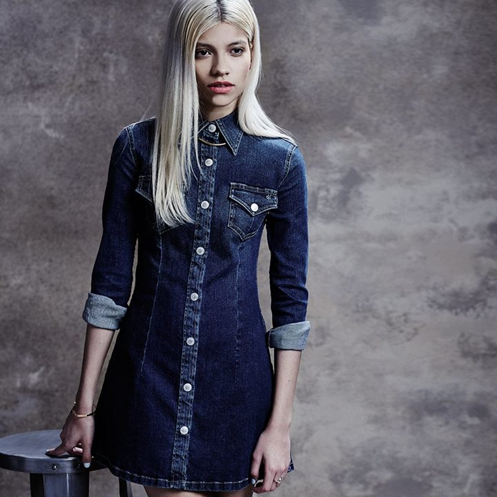 Alexa Chung For AG The Pixie Denim Mini Dress