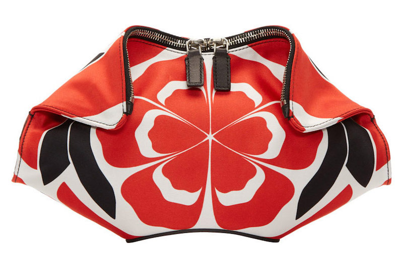 Alexander McQueen Red Matisse Print Small De Manta Clutch