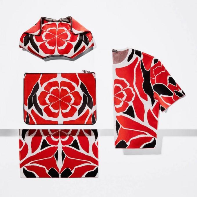 Alexander McQueen Red Matisse Prints