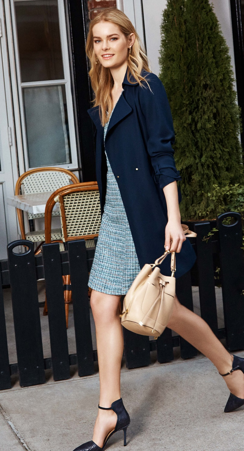 Ann Taylor Relaxed Crepe Trench