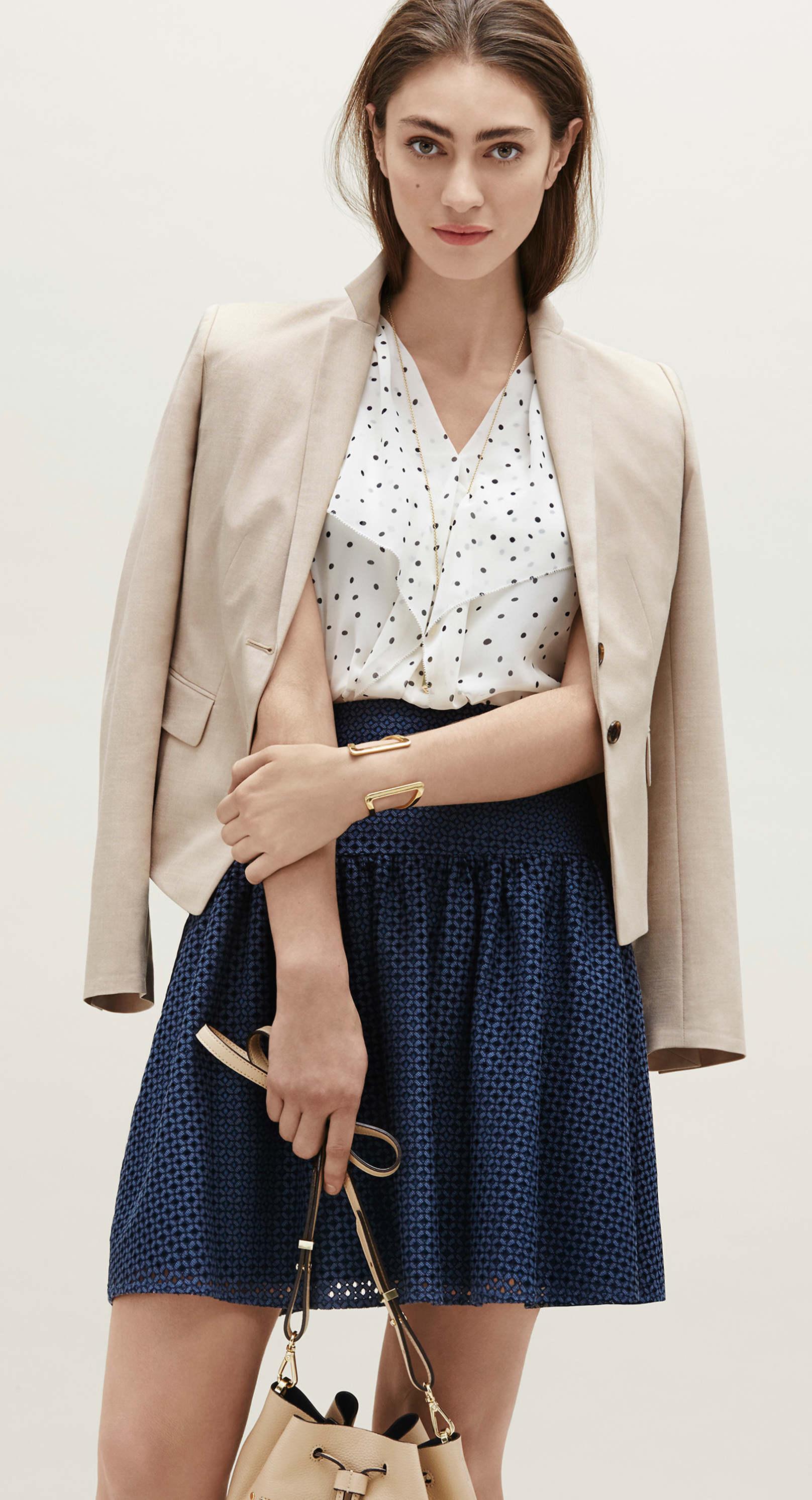 Ann Taylor Textured Swing Skirt