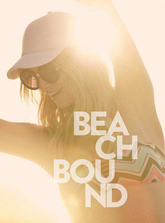 BCA Zigzag Print Bandeau Bikini Top
